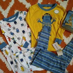 NWT Carter's Monsters Pajamas Set